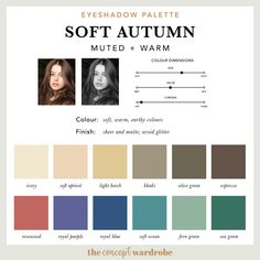If you have just discovered that you are a Soft Autumn in the seasonal colour analysis, find out what the best Soft Autumn make-up colours are. Soft Autumn Makeup, Soft Autumn Color Palette, Fall Makeup, Deep Autumn, Warm Autumn, Autumn Summer, Makeup Palette, Eyeshadow Palette, Makeup Eyeshadow