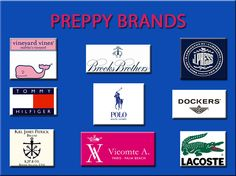 This is not an exhaustive list, however these are the brands that seem to me most likely to match the preppy movement. I let you judge!