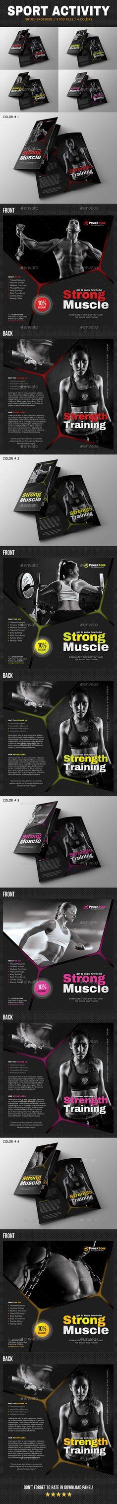 Sport Activity Bifold Brochure 04 - Brochures Print Templates Download here : https://graphicriver.net/item/sport-activity-bifold-brochure-04/19276255?s_rank=115&ref=Al-fatih