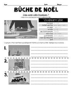French video listening activity: BUCHE DE NOEL (Yule Log)