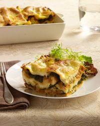 Pumpkin Lasagna with Ricotta and Swiss Chard // More Tasty Lasagnas: http://www.foodandwine.com/slideshows/lasagna-recipes #foodandwine