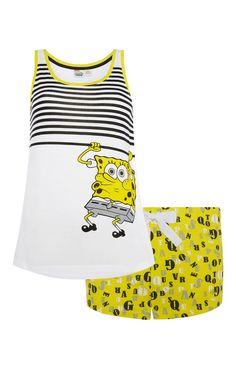 Primark - Spongebob Vest And Short PJ Set
