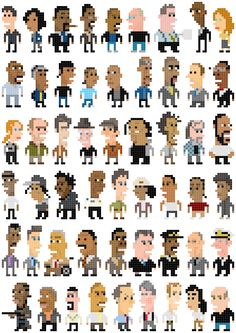 All the characters from the Wire in pixel form!