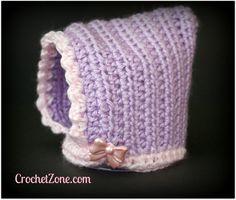 Fuzzy Bonnet Crochet Pattern by Crochet Zone