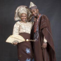 West African Bride and Groom