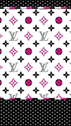 ルイヴィトンモノグラム/ピンクドットパターン iPhone壁紙 Wallpaper Backgrounds iPhone6/6S and Plus  LOUIS VUITTON