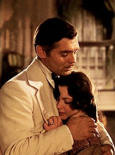 Rhett Butler and Scarlett  Gone With the Wind Greatest Movie Ever This kiss is so ooooooooo