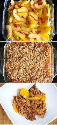 Peach Crisp with an extra thick Gingersnap Crumble | sweetpeasandsaffron.com