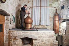 Traditional raki cauldron in Crete
