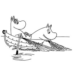 MOOMIN IN LOVE online coloring page. Go green and color online this MOOMIN IN LOVE online coloring page. You can also print out and color this coloring . Online Coloring Pages, Cute Coloring Pages, Cartoon Coloring Pages, Coloring Books, Book Characters, Cartoon Characters, Moomin Tattoo, Les Moomins, Tove Jansson
