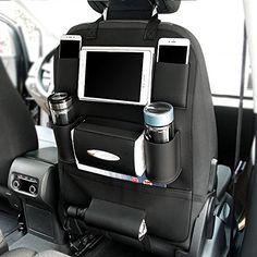 CFZC+Car+Seat+Bag+Storage+PU+Leather+Quality+Multi+Pocket+Organizer+Car+Seat+Kids+Travel+Accessories+Back+Bag+Car+Accessories-Black