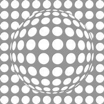 Szablon malarski kula w kropki