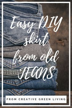 Learn how to turn an old pair of jeans into an adorable DIY jean skirt! This same technique works for girls or women (including plus size! Sewing Basics, Basic Sewing, Diy Ripped Jeans, How To Make Skirt, Cute Skirt Outfits, Skirts For Kids, Modest Skirts, Fabric Scissors, Jeans Material