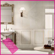 Collezione GRACE #abkemozioni #wall Alabastro #decor Home Alabastro #ceramica #cool #ceramics #design #tile #white #alabastro #pietra #bathroom