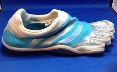 Adidas Adipure Barefoot Trainer 8 Womens Toe Shoes Aqua Blue