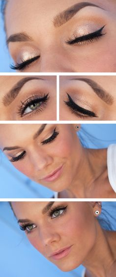 Beautiful #wedding #makeup~ Looks like she used Urban Decay #eyeshadow~ #bride #style #beauty #fashion #popular