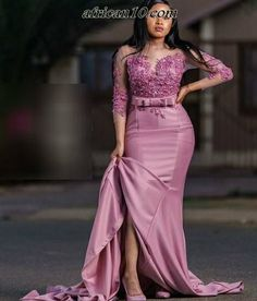 Spiffy Fashion Astonishing Aso-Ebi Styles For You - African Fashion African Lace Styles, Ankara Short Gown Styles, African Bridesmaid Dresses, Bridal Dresses, African Fashion Ankara, African Dress, Maid Of Honour Dresses, Bridesmaid Dresses Plus Size, Long Sleeve Evening Dresses