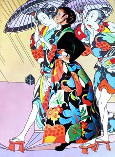 Drawing by Antonio Lopez, photo Otto Storch, Vogue Pattern Book Spring 1970