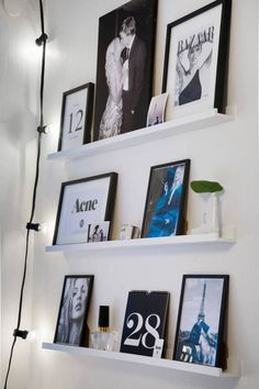 great way to have picture/art display Niklas, Style Deco, Interior Decorating, Interior Design, Decoration, Room Inspiration, Home Art, Sweet Home, Photo Wall