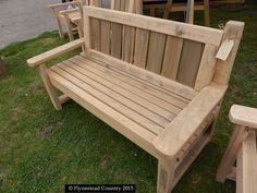 Using recycled hardwood to make garden furniture & accessories.  You just have to use your imagination.  This is a 2-seater Garden Seat or bench