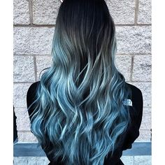 blue silver hair - looks like a divine welcome to the cold, doesn't it?
