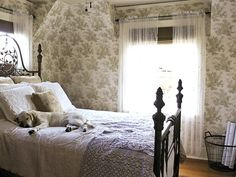 dear geneveieve bathroom design ideas images | Decorating with Toile | Interior Design Styles and Color Schemes for ...