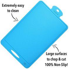 Vikalis Premium Silicone Cutting Board Plastic Best Boards