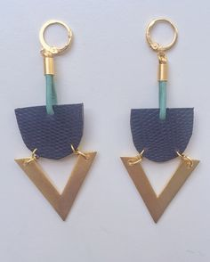 hand- cut embossed leather and brass. A perfect finish for a retro outfit. www.flordekaronka.com