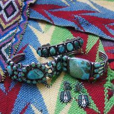 Vintage turquoise jewelry from Uchizono Gallery.