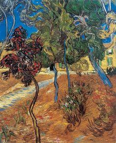 Van Gogh, alberi nel giardino del manicomio, ottobre 1889. Olio su tela, 73 x 60 cm. Collezione privata.
