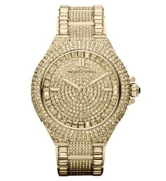 This Michael Kors Glitz Watch has Pave Crystals All Over trendhunter.com