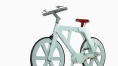 cardboard bicycle by Izhar Gafni, going into production soon, expected production cost is 9 to 12 USD