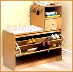 Shoe Storage Cabinet Sideboard Hook Keys Furniture Cupboard Bench Telephone Home