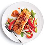 Quick Broiled Salmon with Vegetables Recipe | MyRecipes.com