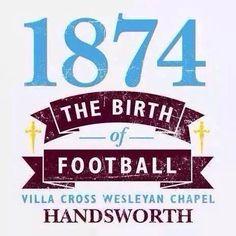 Birth of a legacy Football Boots, Football Fans, Super Club, Aston Villa Fc, Birmingham England, Best Club, My Church, West Midlands, Badges