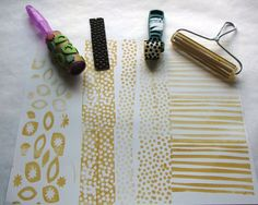 Approachable Art by Judi Hurwitt: stamp tutorial.lots of awesome diy stamps and other designs :) Diy Stamps, Homemade Stamps, Foam Stamps, Creative Gift Wrapping, Creative Gifts, Wrapping Ideas, Do It Yourself Quotes, Make It Yourself, Diy With Kids