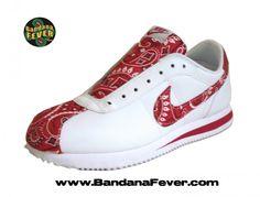 Bandana Fever -  - Bandana Fever Custom Bandana Nike Cortez White/Red/Red Bandana, $189.99 (http://store.bandanafever.com/bandana-fever-custom-bandana-nike-cortez-white-red-red-bandana/)