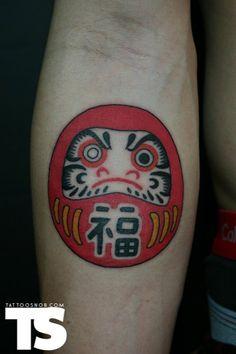 Simple One Eye Daruma Doll Tattoo Design For Forearm Great Tattoos, Unique Tattoos, Leg Tattoos, Small Tattoos, Triangle Tattoo Design, Triangle Tattoos, Japanese Tattoo Designs, Japanese Sleeve Tattoos, Daruma Doll Tattoo