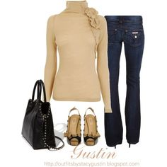 LOVE this great sweater...dressed up with gorgeous heals and dark denims!!