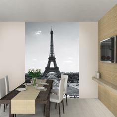 Real Parisian Decoration with Eiffel Tower Wall Decal — Home Decor Designs