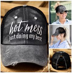 Hot mess just doing my best . . . Hot Mess, Fashion Handbags, I Am Awesome, Baseball Hats, Clothes, Shoes, Keychains, Style, Humor