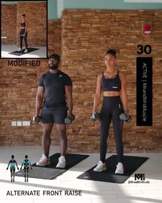 BIKINI BODY IN 60 DAYS - Build strength and muscle in your upper body with this dumbbell shoulder exercise. Hiit Workout Videos, Gym Workouts, At Home Workouts, Workout Days, Fitness Before After, Shoulder Workout, Dumbbell Shoulder, Full Body Dumbbell Workout, Body Fitness