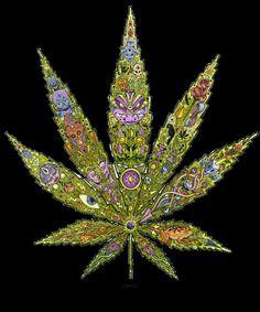 Trippy Pot Leaf | trippy # marijuana # weed