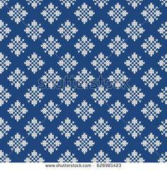 Norway Festive Sweater Fair Isle. Seamless Knitting Pattern