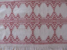 Table Runner done with Swedish Weaving on by rdrunnercreations