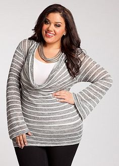 Fat Tuesday Fashion Pick: this is a perfect sweater for the change of the seasons.