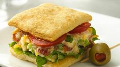Crescent Recipe Creations™ flaky dough sheets hold classic BLT fillings in a just-the-right-size appetizer.