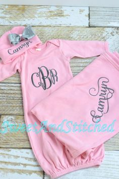 Personalized Baby Girl Blanket pink Baby girl by SweetAndStitched