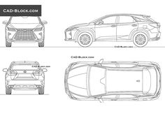 Lexus RX 350 (2016) CAD Block