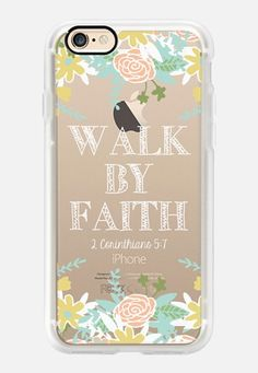 Casetify iPhone 7 Case and Other iPhone Covers - Walk By Faith by The Olive Tree | #Casetify